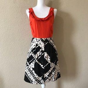 Anthropologie Tabitha Orange Silk Dress